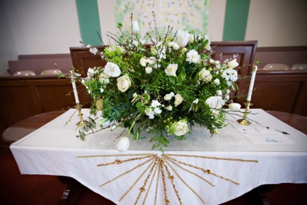 Birthday flower delivery fall silk flowers church flower white altar arrangement at rose city park presbytarian church francoise weeks jpg mightylinksfo