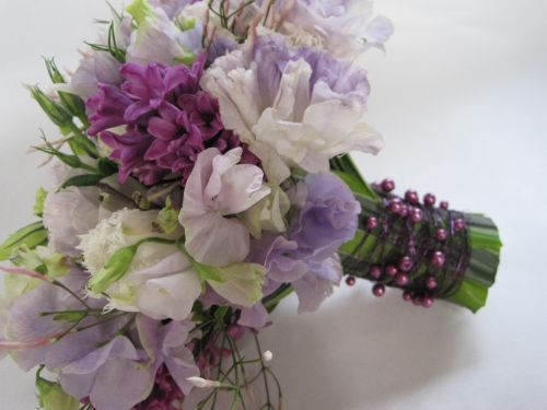 white and lavender spring bouquet, Françoise Weeks