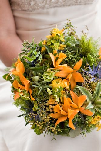 yellow and green whimsical bouquet, Françoise Weeks