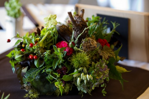 woodland centerpiece, Timberline Lodge, Françoise Weeks