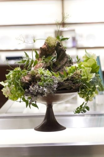 woodland arrangement on pedestal, Françoise Weeks