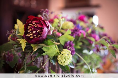 woodland with lilac, hellebore, succulents,peonies,  passion vineMethven Vineyards, Françoise Weeks