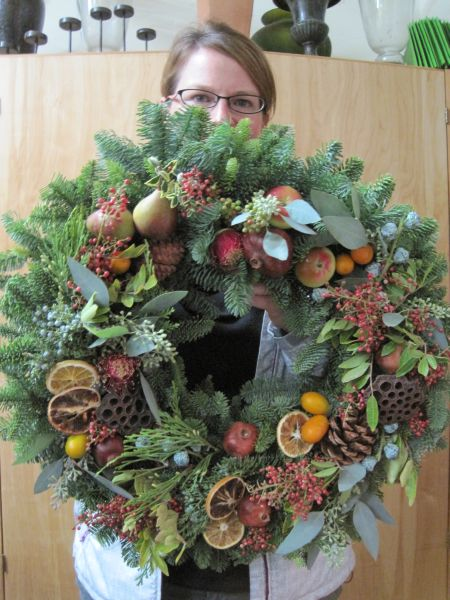 beautiful wreaths from students fran 231 oise weeks