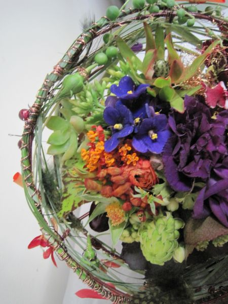 orange and purple whimsical bouquet , Françoise Weeks