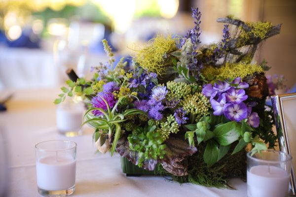 woodland centerpiece with lavender flowers 1, Jenkins Estate, Françoise Weeks