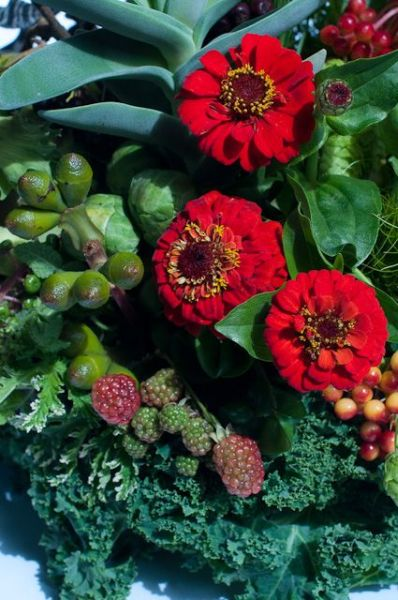 texture and zinnias, Françoise Weeks