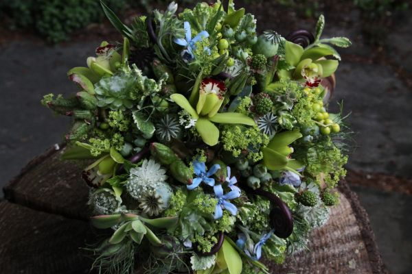 woodland bouquet with blue accents 1, Françoise Weeks