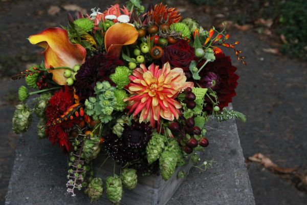 fall arrangement with hops, Françoise Weeks