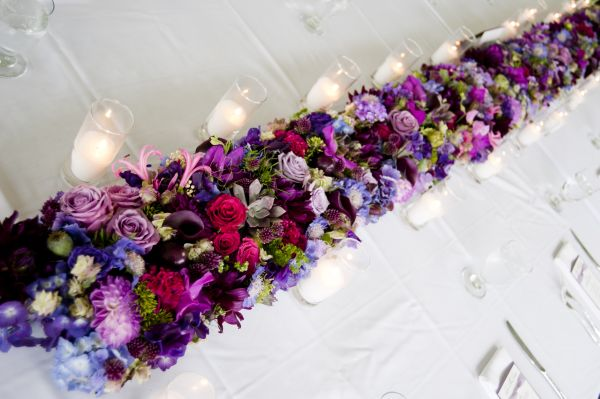 flower garland with dahlias, Françoise Weeks