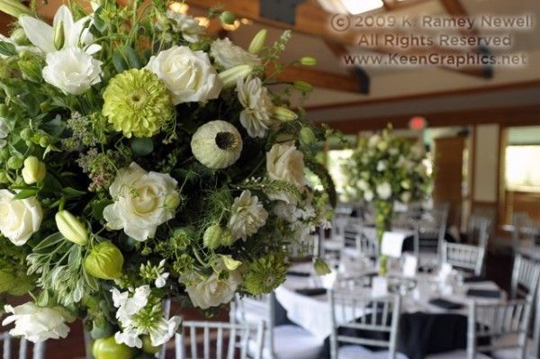 tall white centerpieces, Pumpkin Ridge, Françoise Weeks