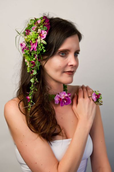 botanical headpiece, ring  and necklace, Françoise Weeks
