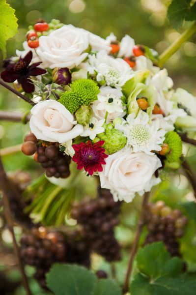 bridesmaid's bouquet, 1  Ponzi Vineyard, Françoise Weeks