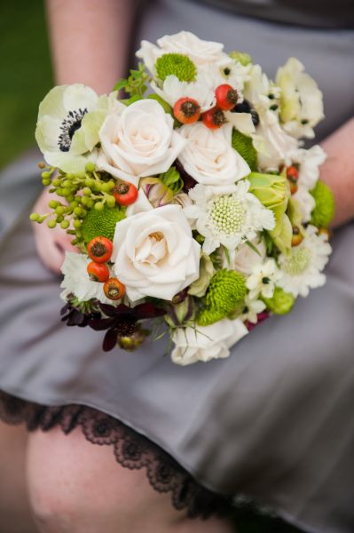 bridesmaid's bouquet,  Ponzi Vineyard, Françoise Weeks