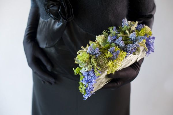 blue  flower purse with muscari 1, Françoise Weeks