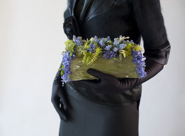 blue  flower purse with muscari, Françoise Weeks