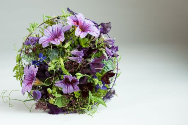 whimsical bouquet with salpiglossis and texture, Françoise Weeks