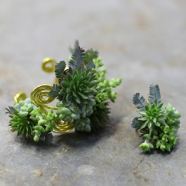 botanical ring and bracele 1t, design Floral Verde, workshop Francoise Weeks Feb 2014
