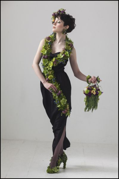 botanical couture photoshoot , , February 2014, Francoise Weeks