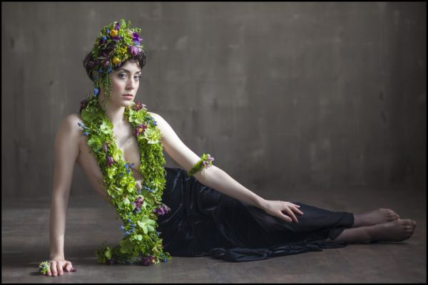 botanical couture photoshoot , detail 12, February 2014, Francoise Weeks