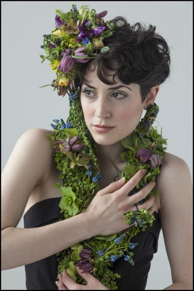 botanical couture photoshoot , detail 4, February 2014, Francoise Weeks