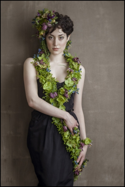 botanical couture with hellebore, muscari and fritillaria, Françoise Weeks