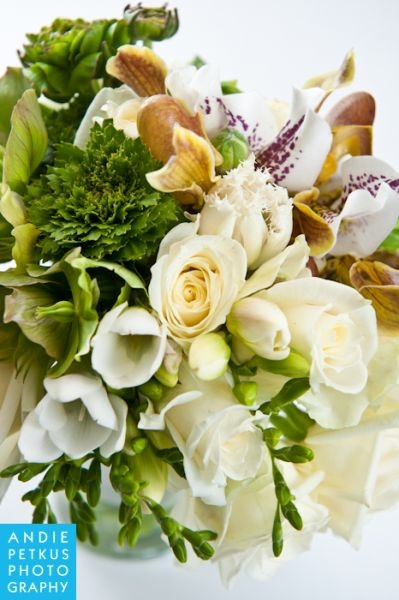 bridal bouquet with orchids, ranunculus, tulips and roses, Françoise Weeks