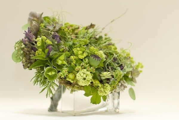 woodland bridal bouquet with texture and lavender, Françoise Weeks