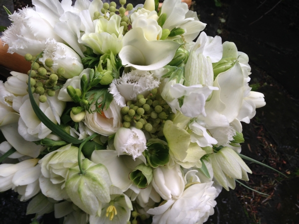 white and green bridal bouquet 1,  Françoise Weeks
