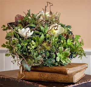 woodland bridal bouquet with texture & hellebore 2 , Francoise Weeks
