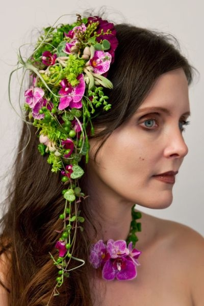 botanical headpiece and necklace, Françoise Weeks