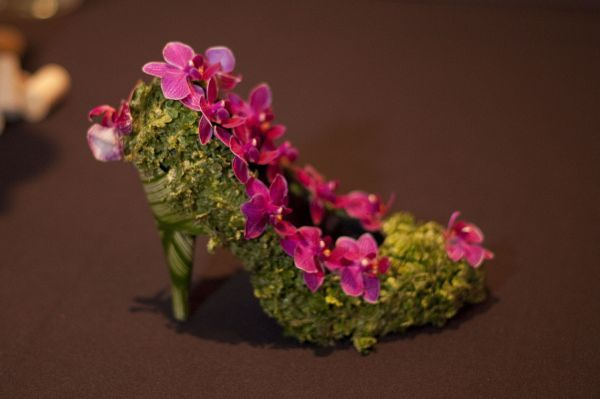 botanical shoe with club moss and orchids, Portland Art MuseumFrançoise Weeks