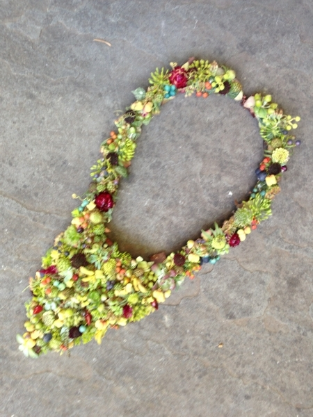 botanical necklace, Francoise Weeks