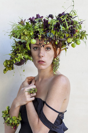 botanica headpiece and jewelry, Francoise Weeks