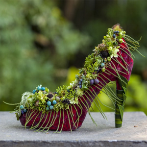 botanical red  shoe 3, Francoise Weeks