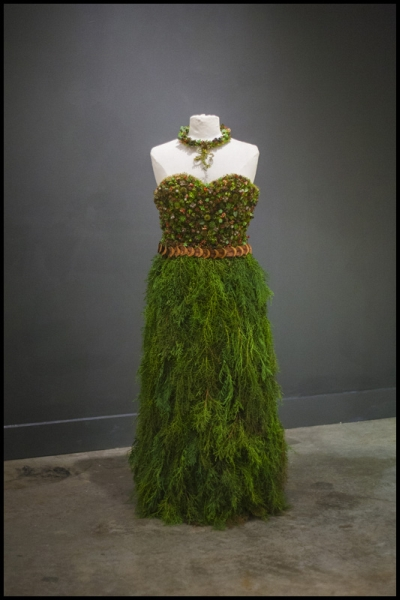 botanical dress for Divine Design Boutique, Francoise Weeks