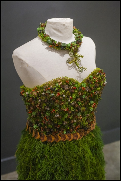 botanical dress for Divine Design Boutique, detail 1, Francoise Weeks