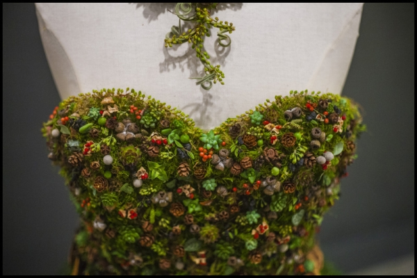botanical dress for Divine Design Boutique, detail 2, Francoise Weeks