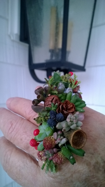 botanical ring, Francoise Weeks