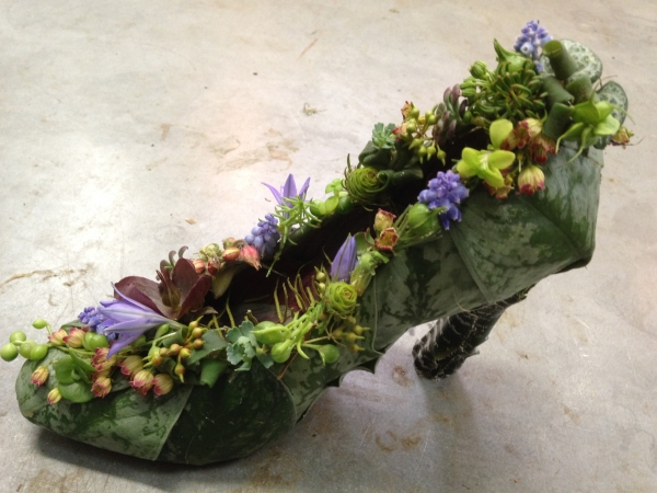 botanical shoe; Francoise Weeks