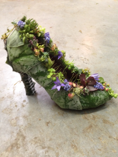 botanical shoe l ; Francoise Weeks