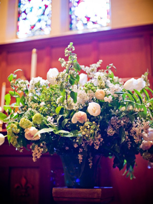 large arrangement, trinity Episcopal Chapel, Francoise Weeks