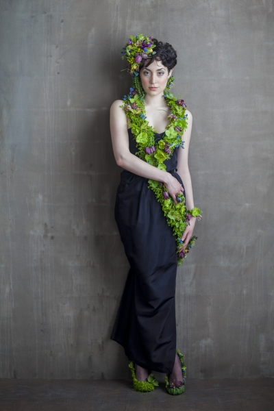 botanical couture Francoise Weeks- photo Ted Mishima