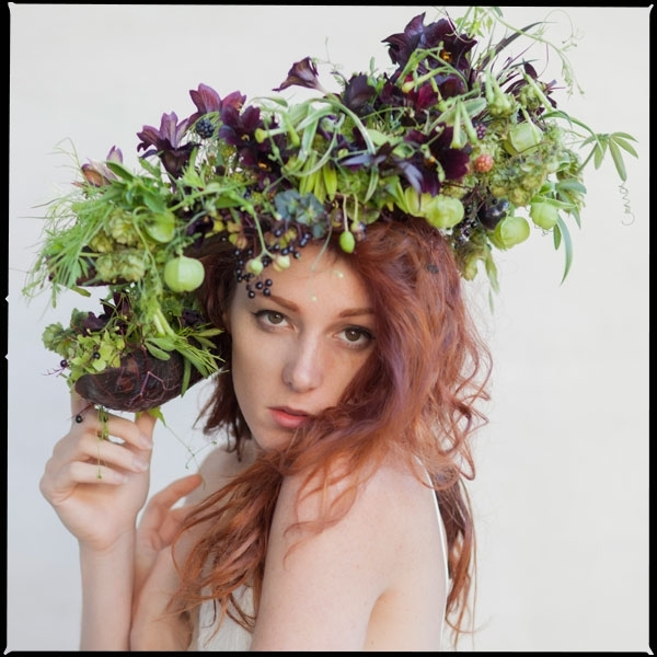 botanical couture, headpiece 1, Francoise Weeks