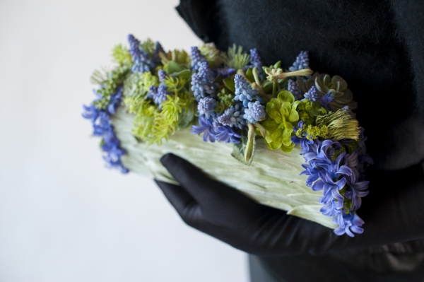 botanical purse with muscari, Francoise Weeks