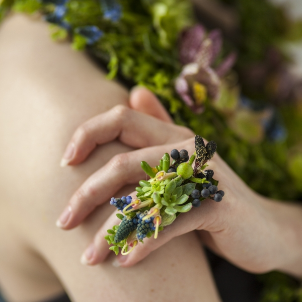 botanical ring Francoise Weeks- photo Ted Mishima