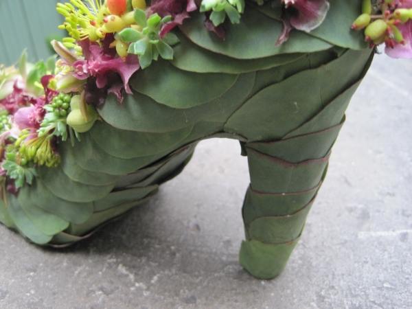 botanical shoe with blackberries, succulents,orchids,  Françoise Weeks