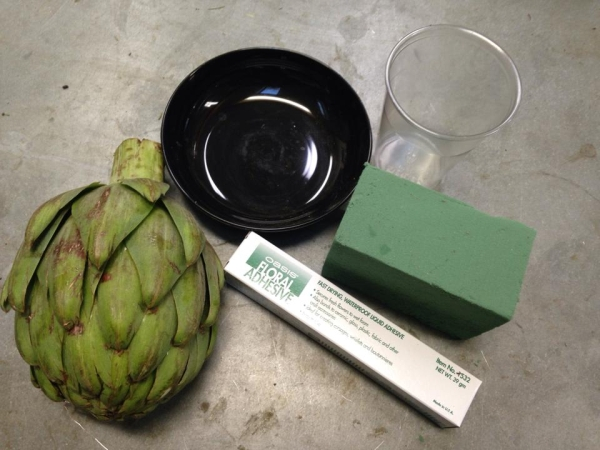 materials to make an artichoke arrangement, Francoise Weeks