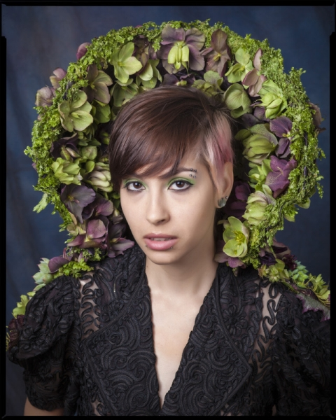 botanical collar with hellebore and texture, 1 Francoise Weeks