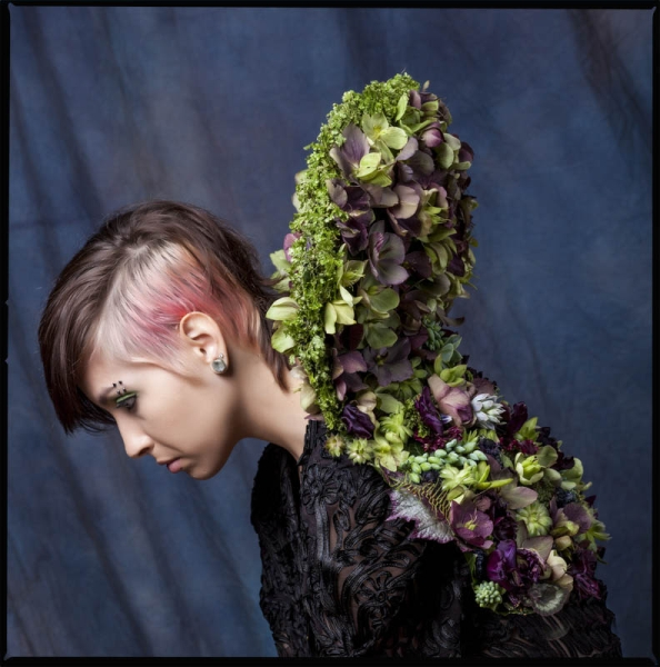 botanical collar with hellebore and texture, 2 Francoise Weeks