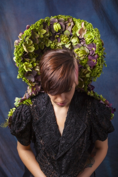 botanical collar with hellebore and texture, Francoise Weeks